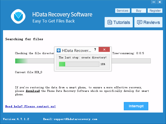 H Data Recovery Recover Lost Files Scanning